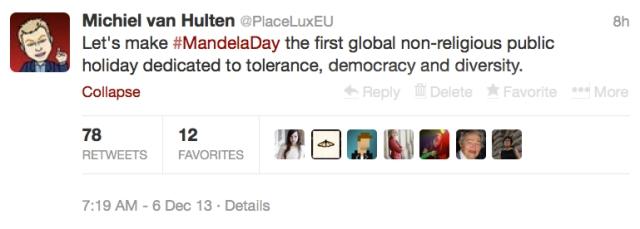 Mandela tweet